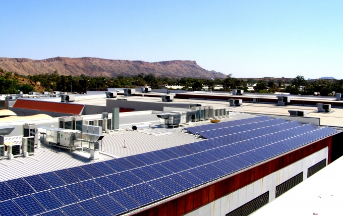 50 kW WINAICO Solar System in Alice Springs Completed September 2013.